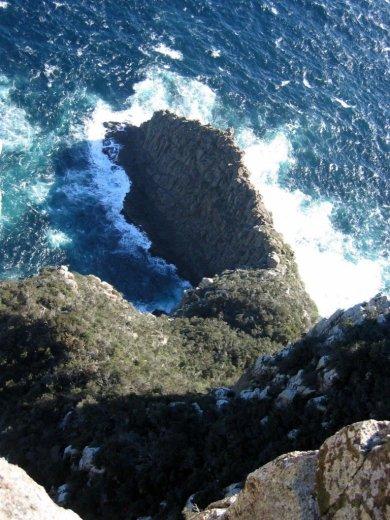 At Cape Pillar, Pacific Coast of Tasmania
