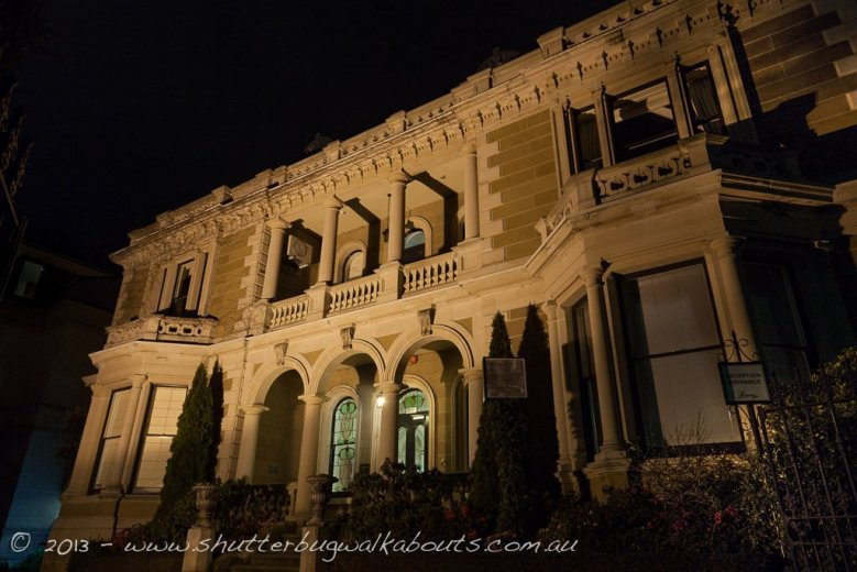 Hotel Lenna at night-Battery Point-Hobart-- courtesy of Shutterbug Walkabouts