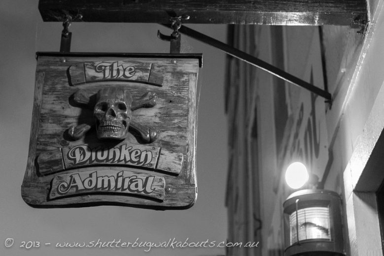 Skull and crossbones-The Drunken Admiral-Hobart-- courtesy of Shutterbug Walkabouts