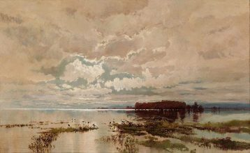 The Flood in the Darling -- by William Piguenit - via Wikimedia
