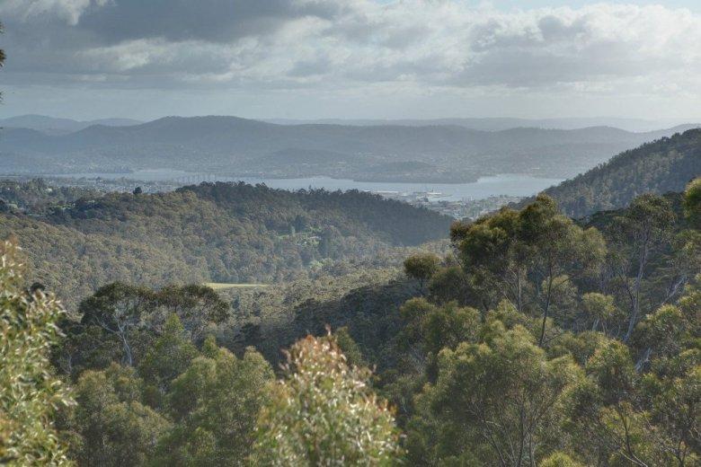 Hobart viewed from Ridgeway - by Angus Munro