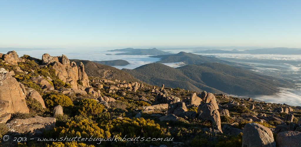 Early morning fog-Mt Wellington Summit- by Shutterbug Walkabouts