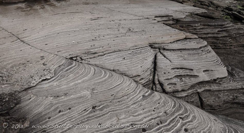 Sandstone layers-Painted cliffs - Maria Island - by Shutterbug Walkabouts