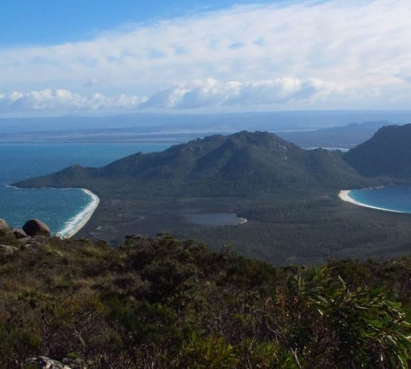 The isthmus at Freycinet National Park