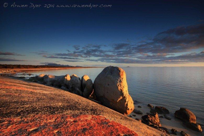 Sunset at Blue Rocks - by Arwen Dyer
