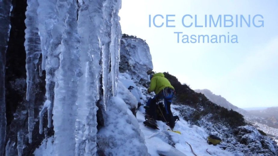 Ice Climbing Tasmania - by Wild Oates Productions with Kim Ladiges - 001