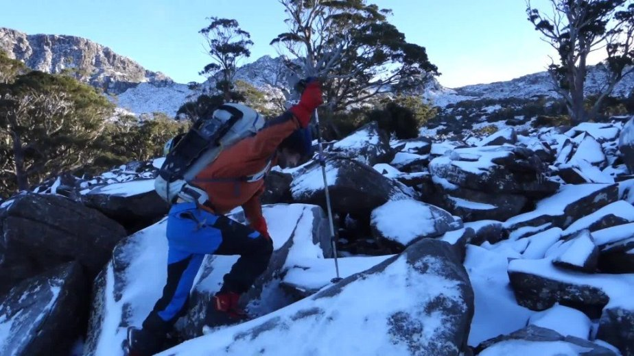 Ice Climbing Tasmania - by Wild Oates Productions with Kim Ladiges - 022