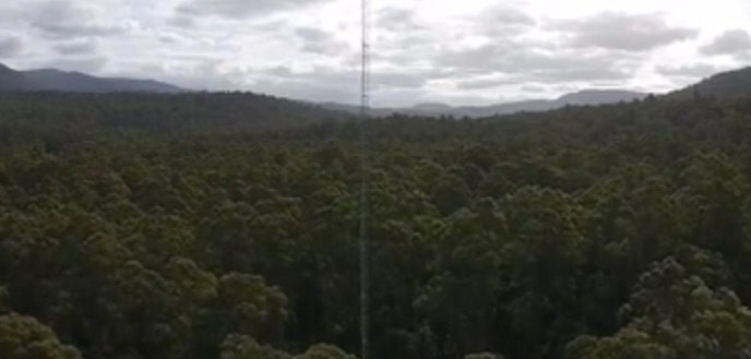 Warra Flux Tower from TerraLuma UAV - by Arko Lucieer 5.28.35 pm