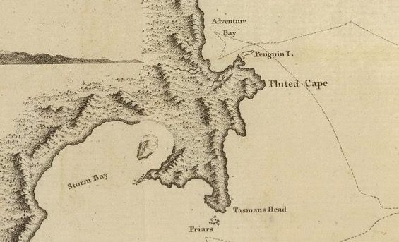 Chart of Van Diemens Land -  by William Bligh, with Cook, 1785  - courtesy David Rumsey Map Collection - 005