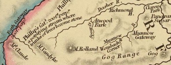 Detail from Van Diemens Land 1834 by J Arrowsmith - courtesy David Rumsey Map Collection - 009