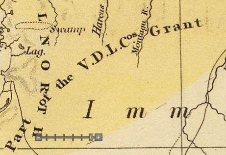 Detail from Van Diemens Land 1834 by J Arrowsmith - courtesy David Rumsey Map Collection - 014