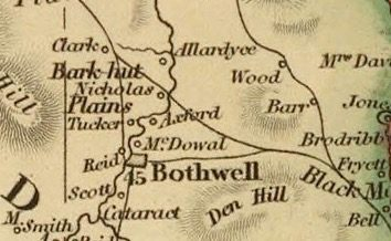 Detail from Van Diemens Land 1834 by J Arrowsmith - courtesy David Rumsey Map Collection - 039