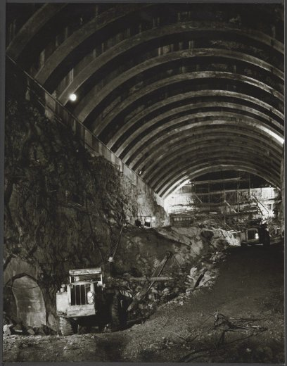 Snowy Mountains Scheme T-2 tunnel work, 1957, Dept of Overseas Trade, Melbourne - by Wolfgang Sievers