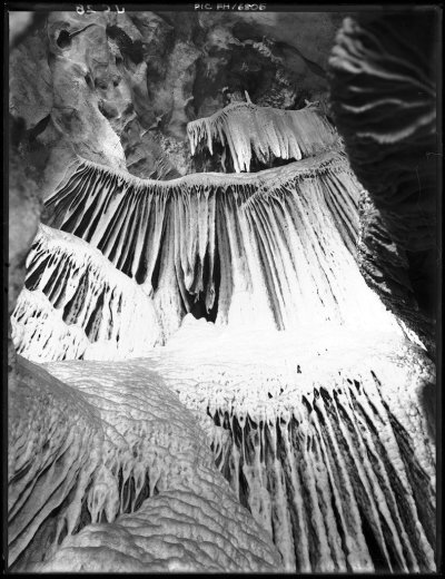 The Cascades, River Cave, Jenolan Caves, New South Wales - by Frank Hurley c1910