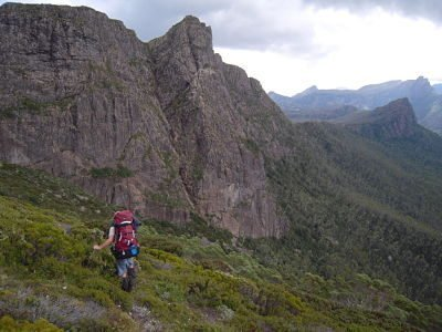 Crossing around Mount Gould, Minotaur in the background