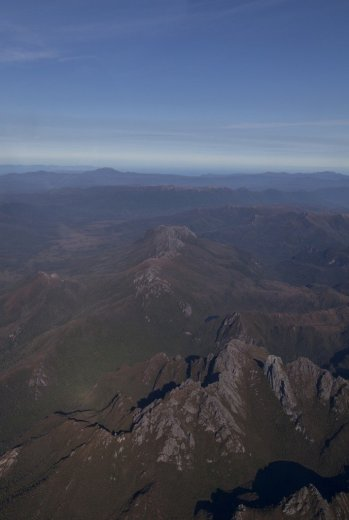 Flying Into The South Coast Track - Aerial Southern Ranges 2 - by Geraldina Dijkstra