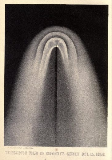 Image from A Popular Treatise on Comets (1861) by James C. Watson – - via Public Domain Review
