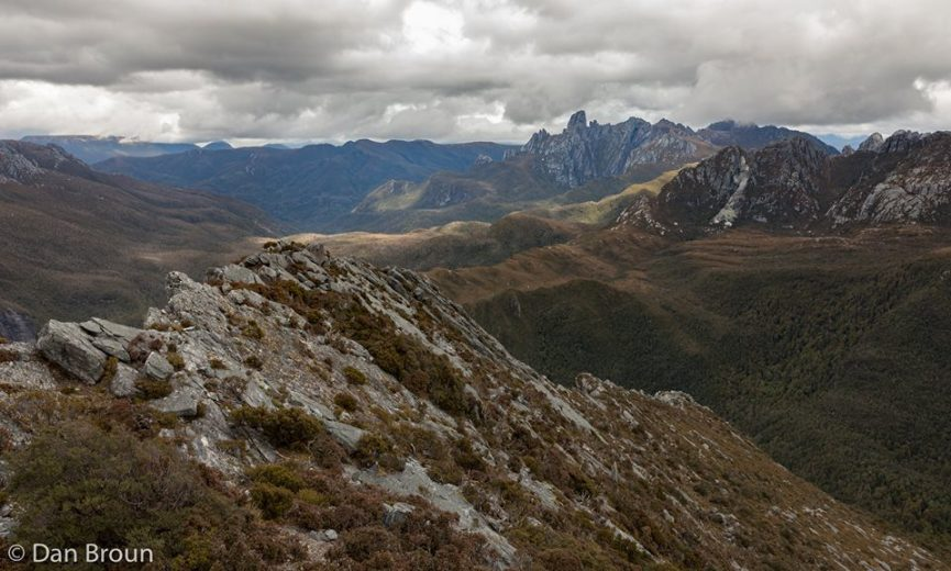 A climb of The Dial before dropping to our campsite at Stuarts Saddle- by Dan Broun
