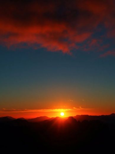 Sunset over the high dolerite peaks- by Becca Lunnon_Rock Monkey Adventures