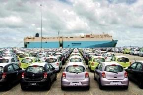 Nissan exports at Laem Chabang port (near Pattaya)