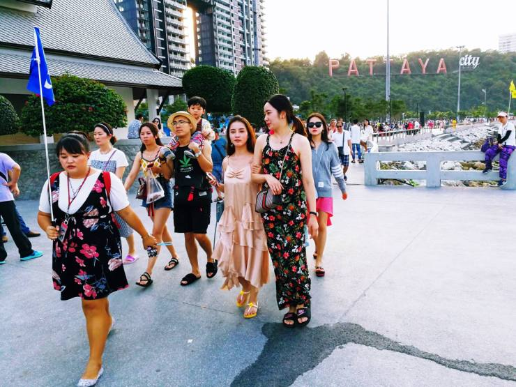 Chinese tourists in Pattaya