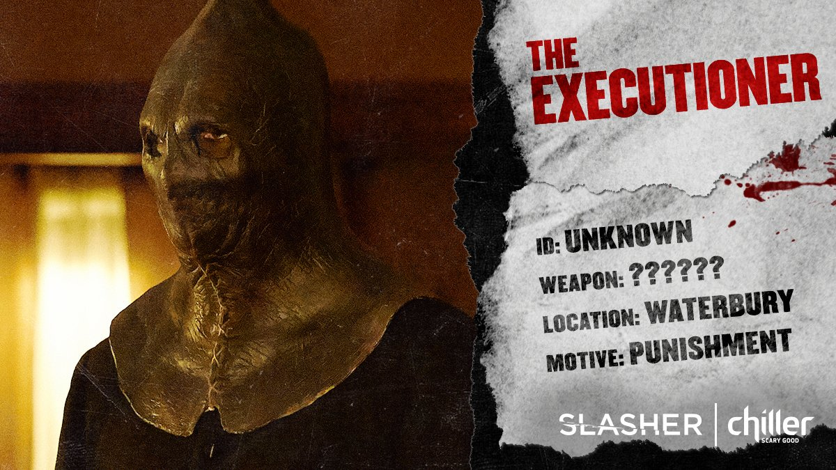 SLASHER The Executioner -- (Photo by: Stephen Scott/Chiller/Shaftesbury), 2016.