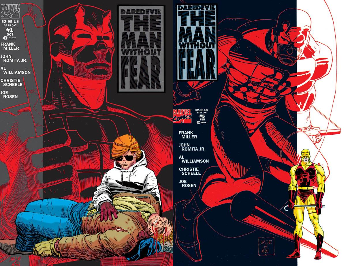 Daredevil - The Man Without Fear #1-5 (1993-1994), Marvel Comics.