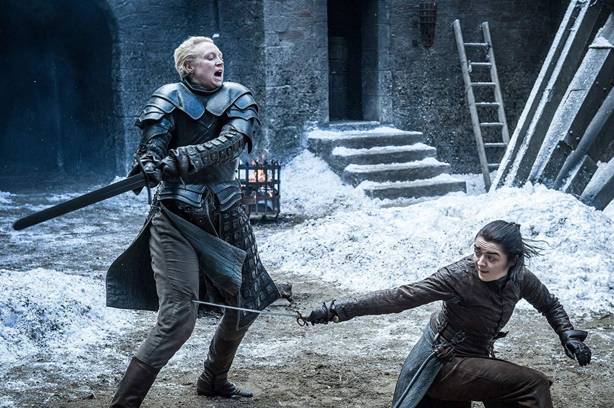brienne of tarth duels with arya stark
