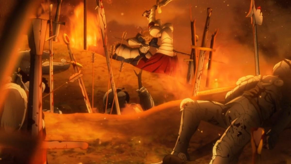 Saber during King Arthur's war.