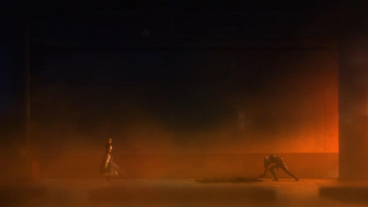 Saber and Berserker's final battle.