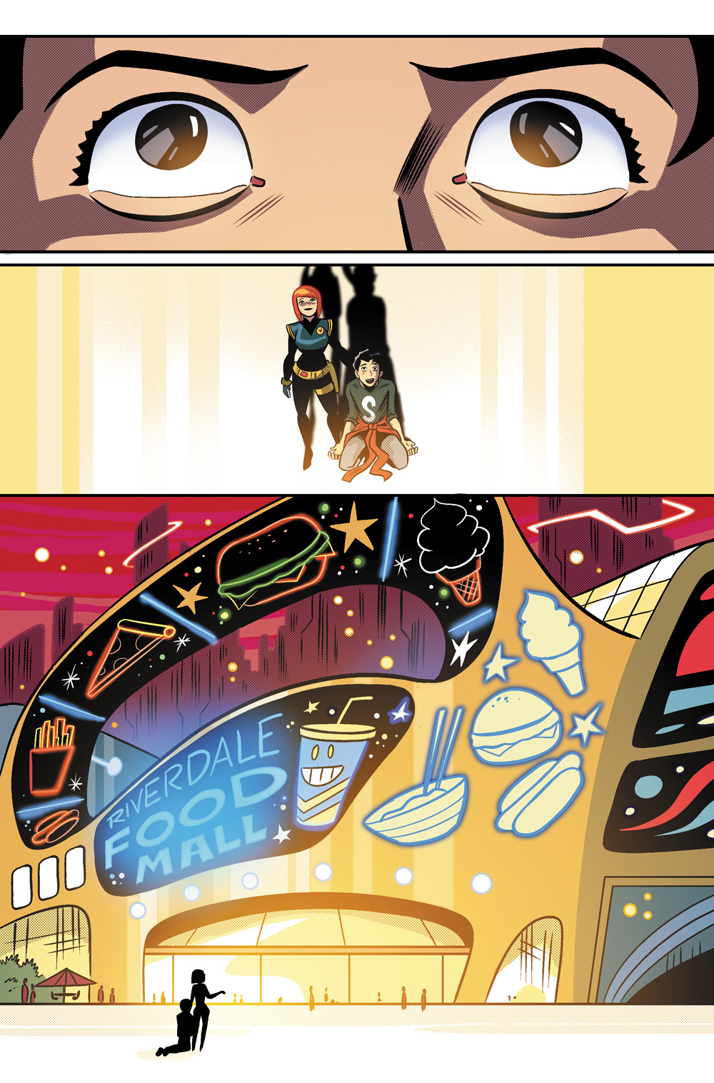 The moment where Jughead spots an all you can eat food mall in Jughead's Time Police #2.