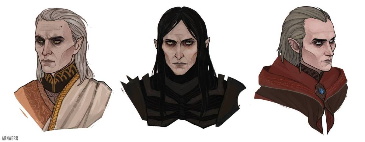 Geels, Eredin, and Avallac'h from The Witcher