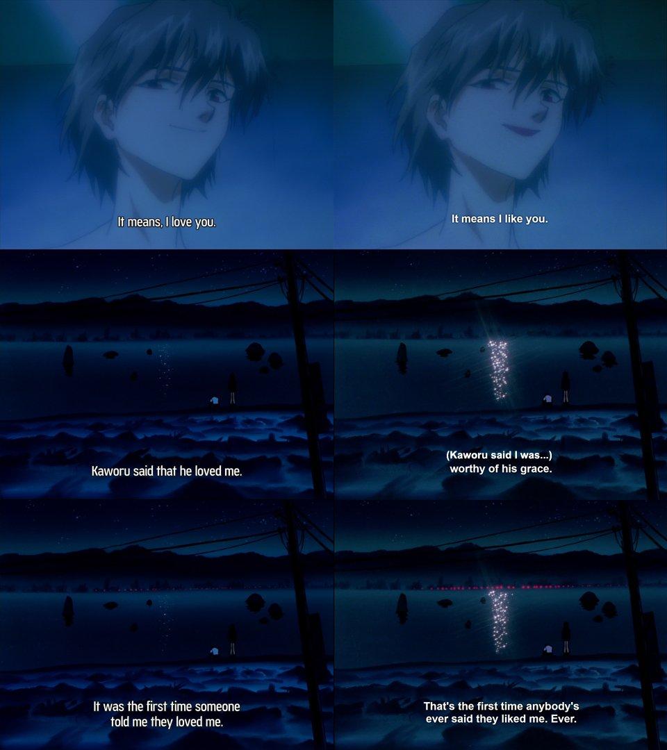 Queer erasure through Netflix's subtitles. Comparison photo of the original Neon Genesis Evangelion and Netflix's.