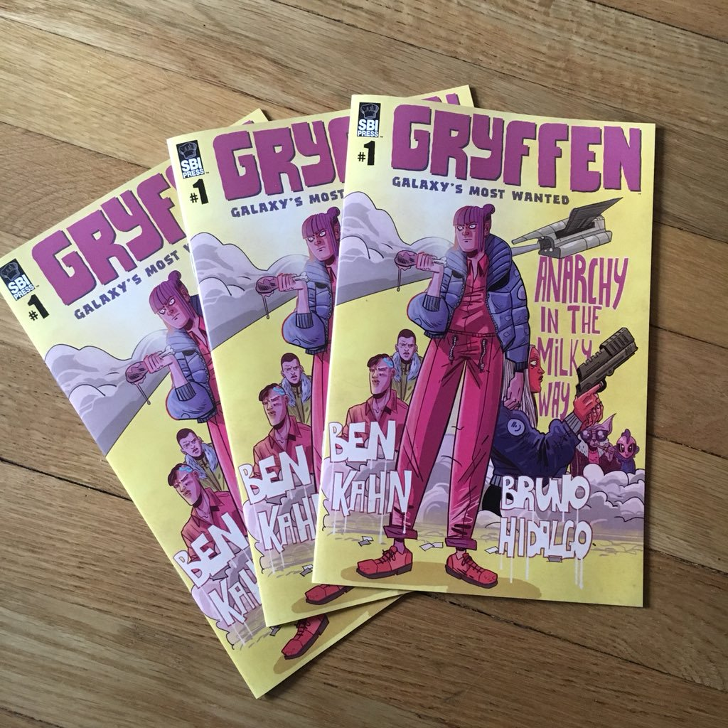 @BenTheKahn Twitter Photo For The First Issue of Gryffen: Galaxy's Most Wanted