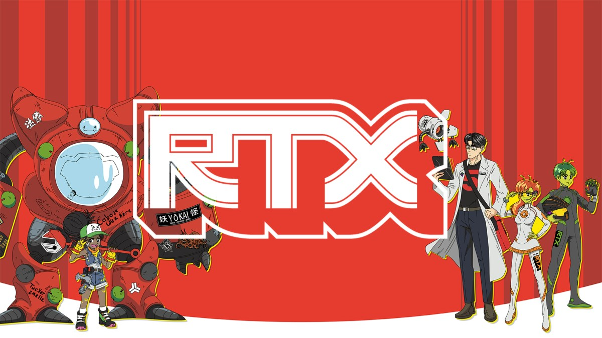 RTX's logo and mascots for 2019.
