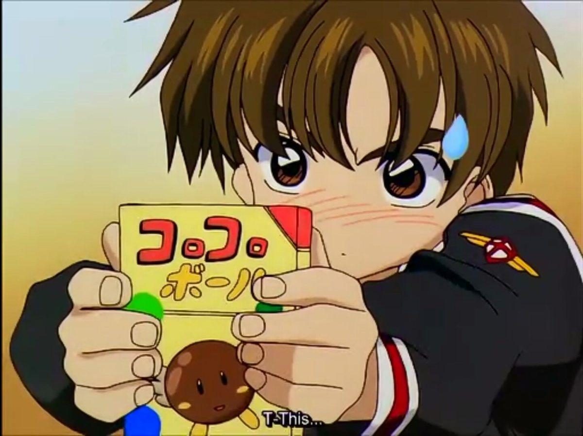 Syaoron Li offers a chocolate snack while blushing.
