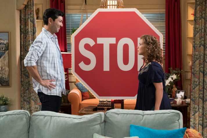 Penelope imagines a giant stop sign as a way of coping with an anxiety attack.