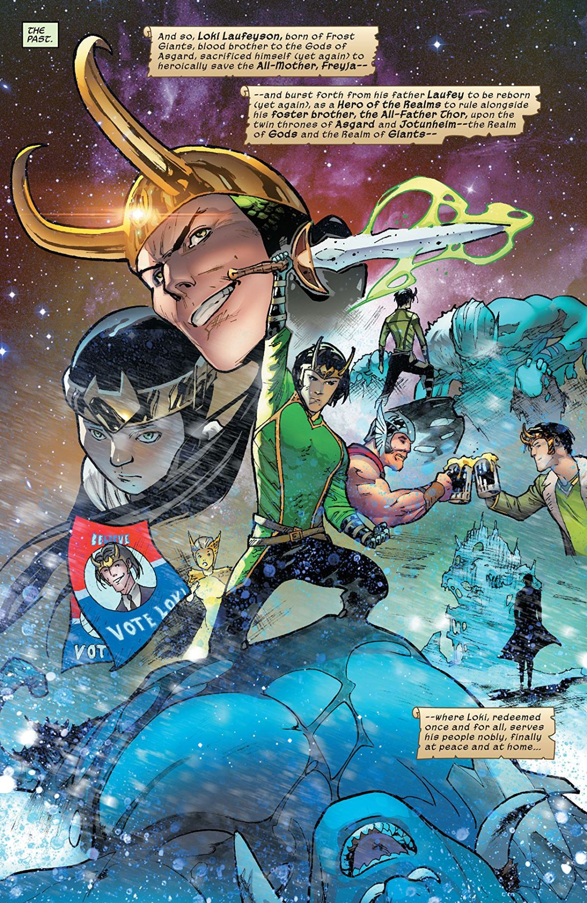 Loki #1: Page 2, Loki Through The Years.