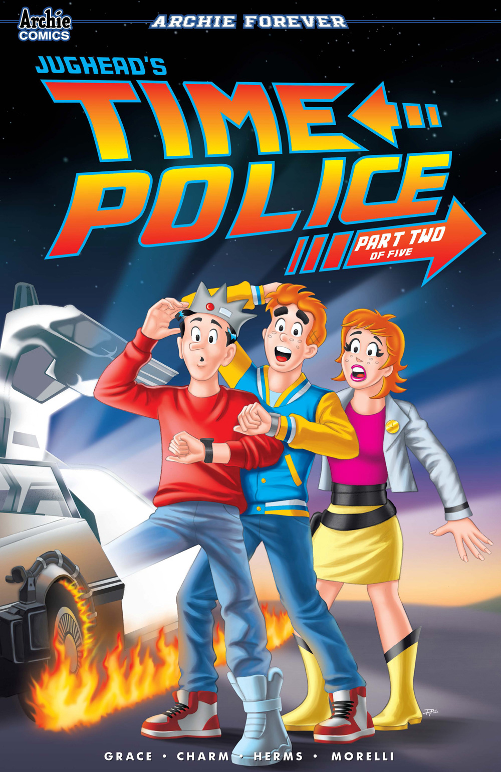 A variant cover for Jughead's Time Police #2.