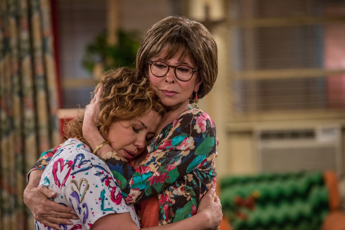 Lydia hugs Penelope.