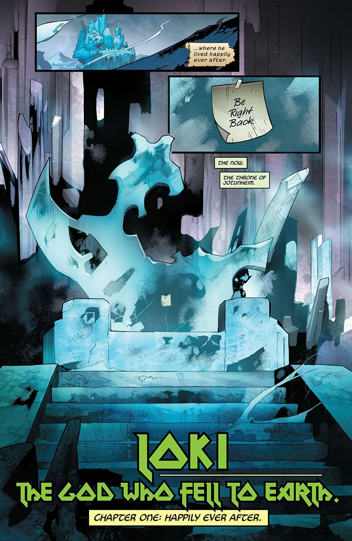 Loki #1: Page 3, The Lonely Throne Of Jotunheim.