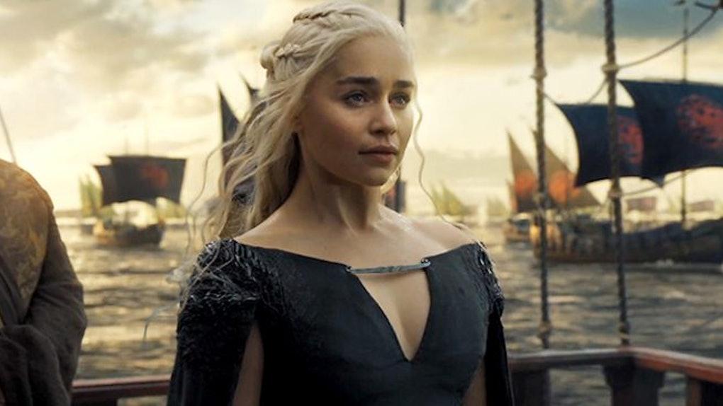Daenerys Targaryen leads her fleet towards Westeros.