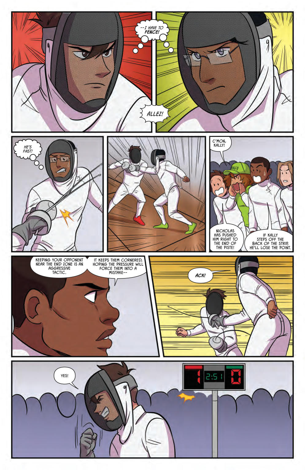 Kally and Nicholas fight each other in Fence Vol. 3.