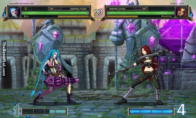 League of Fighting is a fanmade fighting based game using characters from the League of Legends world in a Tekken-esque scene.