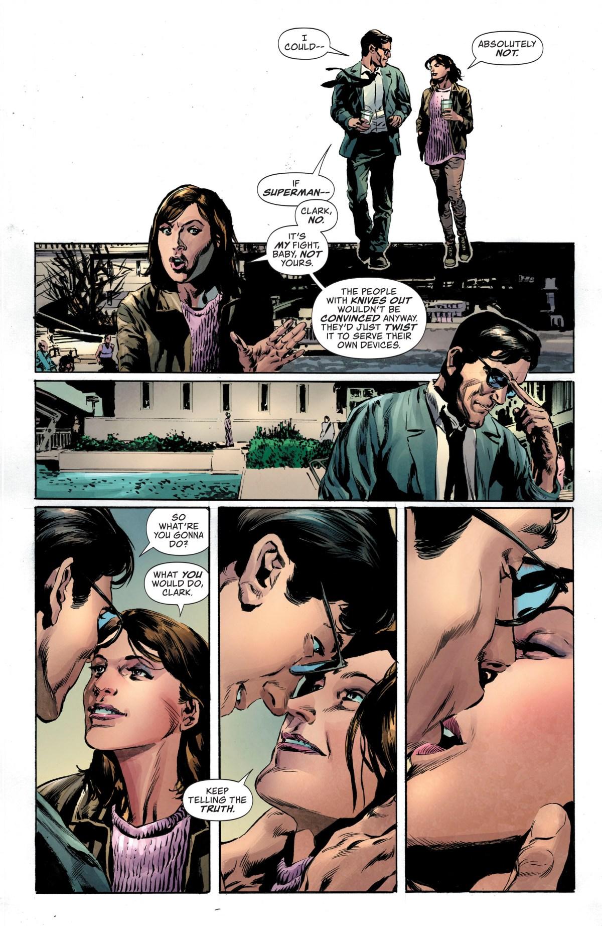 Lois and Clark talk.