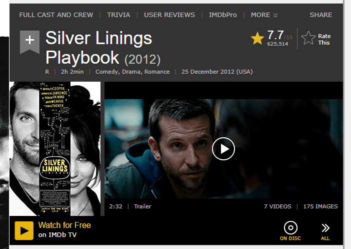 IMDb TV Watch as a free option.