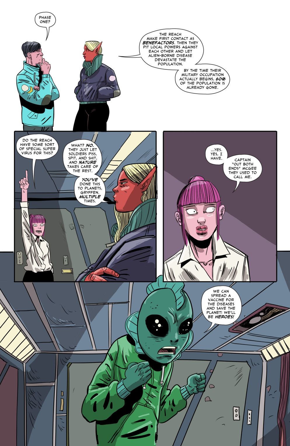 Gryffen: Galaxy's Most Wanted #7; Page 7, SBI Press.