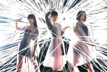 The main members of Perfume: Kashiyuka, A-Chan, and Nocchi