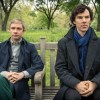 "Sherlock, Season 3 Sundays, Jan. 19 - Feb. 2 on MASTERPIECE on PBS ""The Sign of Three""—Sunday, January 26, 2014 at 9:58 pm ET on PBS Sherlock faces his biggest challenge of all – delivering a Best Man's speech on John's wedding day! But all isn't quite as it seems. Mortal danger stalks the reception - and someone might not make it to the happy couple's first dance. Sherlock must thank the bridesmaids, solve the case and stop a killer! Shown from left to right: Martin Freeman as John Watson and Benedict Cumberbatch as Sherlock Holmes (C)Robert Viglasky/Hartswood Films for MASTERPIECE This image may be used only in the direct promotion of MASTERPIECE. No other rights are granted. All rights are reserved. Editorial use only."