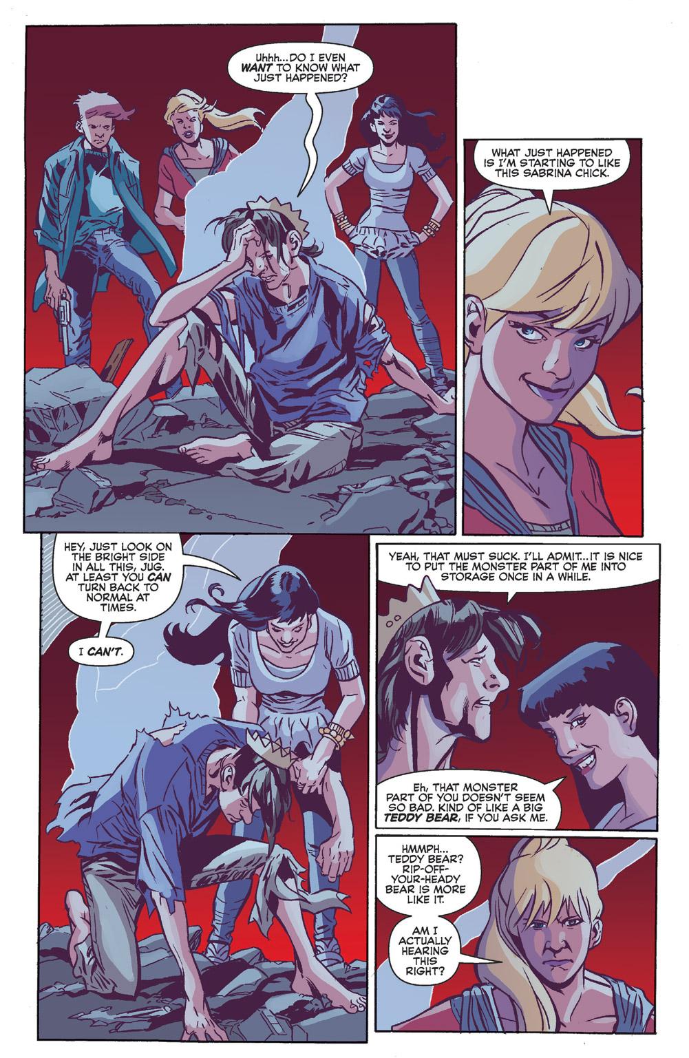 Some light flirting between Jughead and Veronica